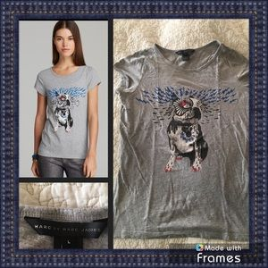 Marc by Marc Jacobs dog print tee
